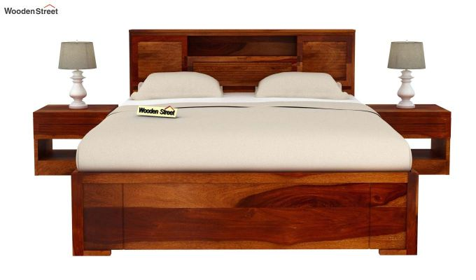 Ferguson Bed With Storage (Queen Size, Honey Finish)-3