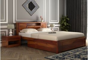 Double Bed Buy Wooden Double Bed Online Upto 55 Off Wooden Street