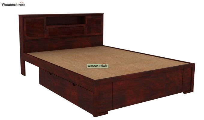 Ferguson Bed With Storage (Queen Size, Mahogany Finish)-4