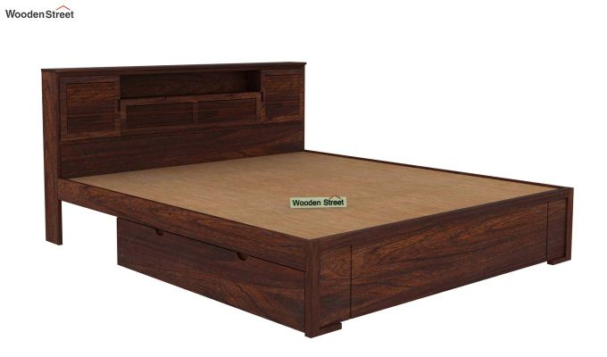 Ferguson Bed With Storage (King Size, Walnut Finish)-5