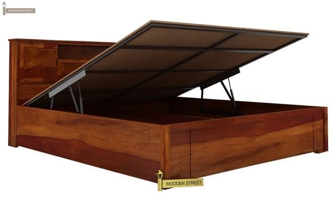 Ferguson Hydraulic Bed (King Size, Honey Finish)-3