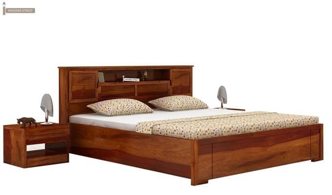 Ferguson Hydraulic Bed (King Size, Honey Finish)-2