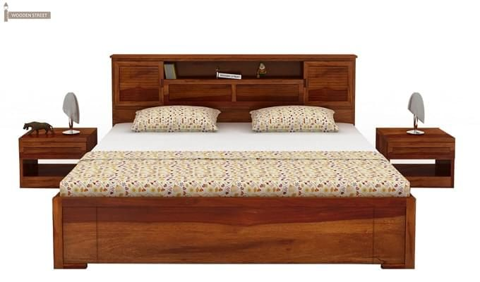 Ferguson Hydraulic Bed (King Size, Honey Finish)-4