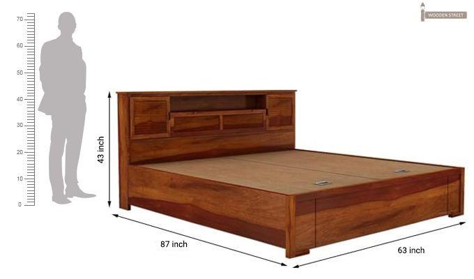 Ferguson Hydraulic Bed (Queen Size, Honey Finish)-6