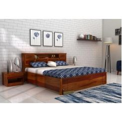 Ferguson Hydraulic Bed (King Size, Honey Finish)