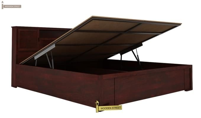 Ferguson Hydraulic Bed (King Size, Mahogany Finish)-3