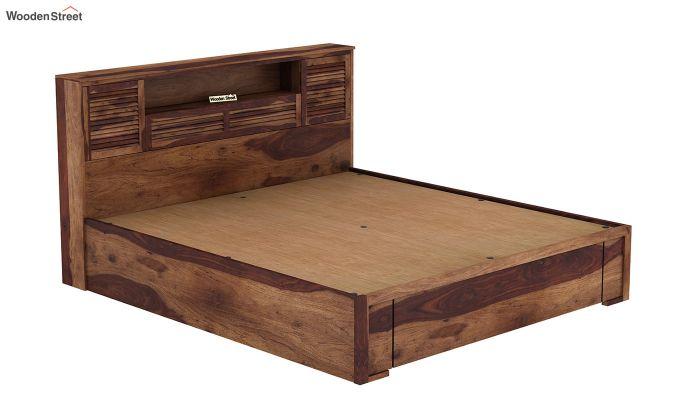 Ferguson Hydraulic Bed (Queen Size, Teak Finish)-7