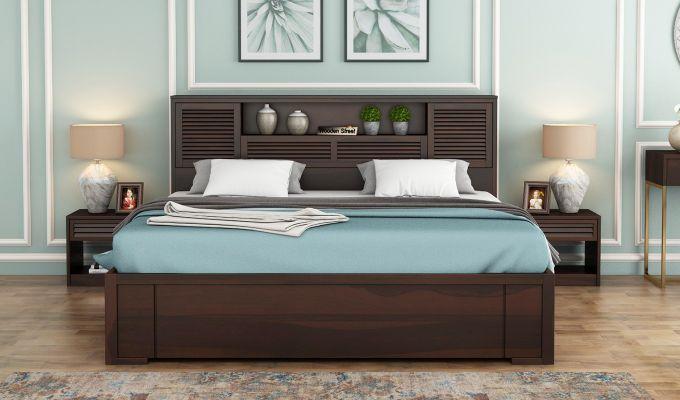 Ferguson Hydraulic Bed (Queen Size, Walnut Finish)-2