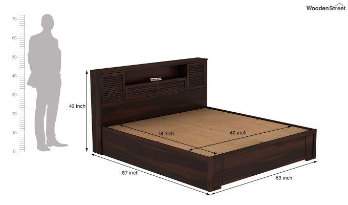 Ferguson Hydraulic Bed (Queen Size, Walnut Finish)-9