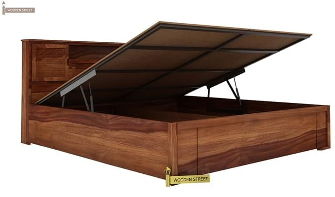 Ferguson Hydraulic Bed (King Size, Teak Finish)-2