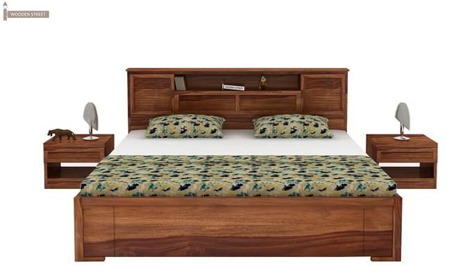 Ferguson Hydraulic Bed (King Size, Teak Finish)-3