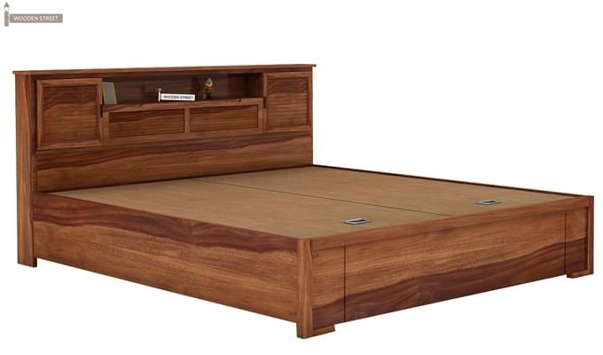 Ferguson Hydraulic Bed (Queen Size, Teak Finish)-5