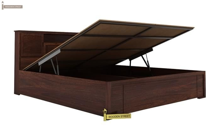 Ferguson Hydraulic Bed (Queen Size, Walnut Finish)-3