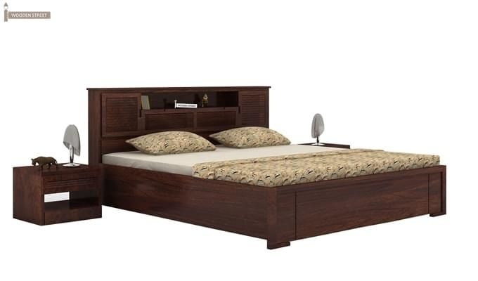 Ferguson Hydraulic Bed (Queen Size, Walnut Finish)-1
