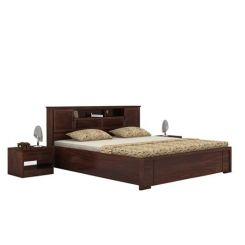 Ferguson Hydraulic Bed (King Size, Walnut Finish)