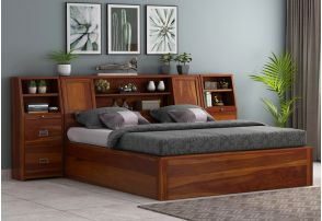 5 Best Hydraulic Bed Designs Online In India Wooden Street