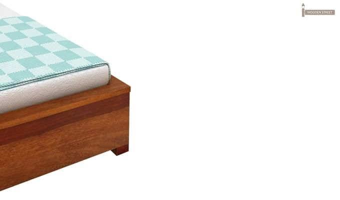 Hether Hydraulic Bed (King Size, Honey Finish)-6