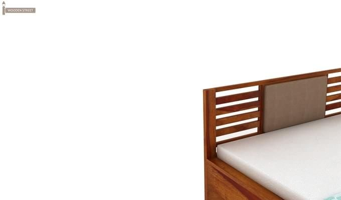 Hether Hydraulic Bed (King Size, Honey Finish)-8