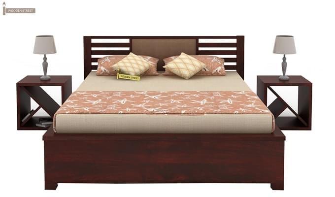 Hether Hydraulic Bed (King Size, Mahogany Finish)-3