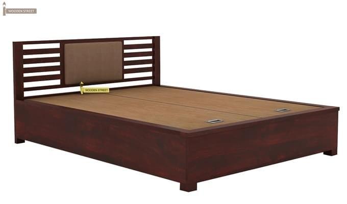 Hether Hydraulic Bed (King Size, Mahogany Finish)-4