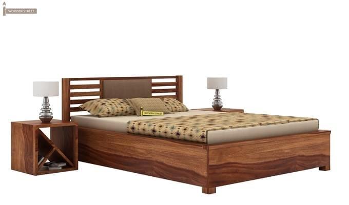 Hether Hydraulic Bed (King Size, Teak Finish)-2