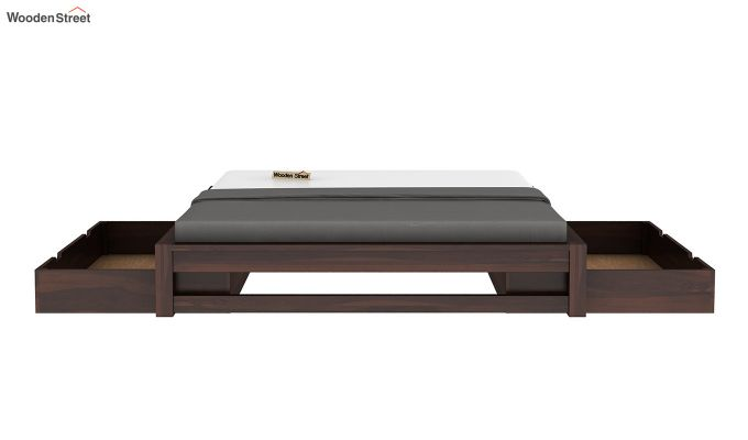 Hout Bed With Storage (King Size, Walnut Finish)-5