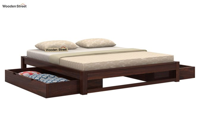 Hout Bed With Storage (King Size, Walnut Finish)-3