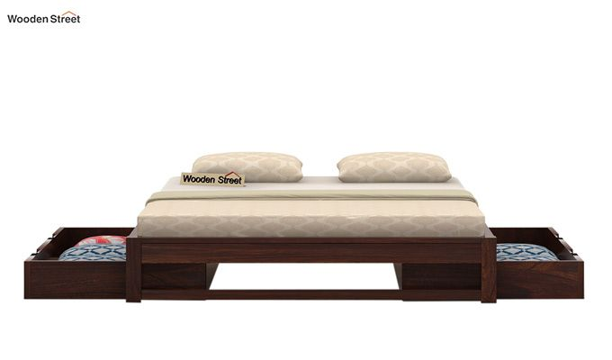 Hout Bed With Storage (King Size, Walnut Finish)-4