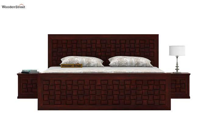 Howler Bed With Side Storage (King Size, Mahogany Finish)-2
