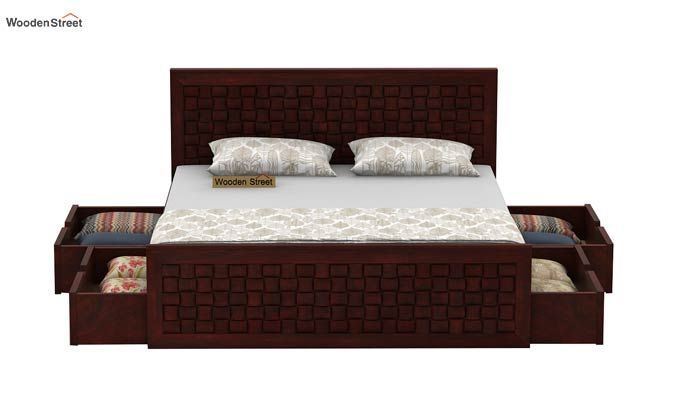 Howler Bed With Side Storage (King Size, Mahogany Finish)-4
