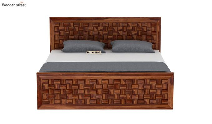 Howler Bed With Side Storage (Queen Size, Teak Finish)-5