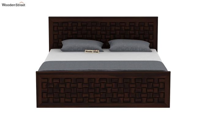 Howler Bed With Side Storage (Queen Size, Walnut Finish)-5