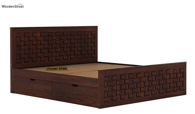Howler Bed With Side Storage (Queen Size, Walnut Finish)-6