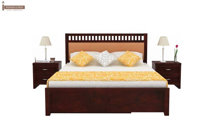 Javert Bed With Storage (Queen Size, Mahogany Finish)-2