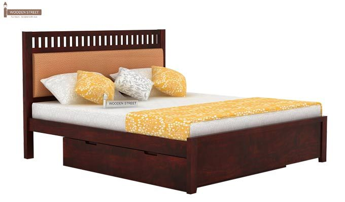 Javert Bed With Storage (Queen Size, Mahogany Finish)-3