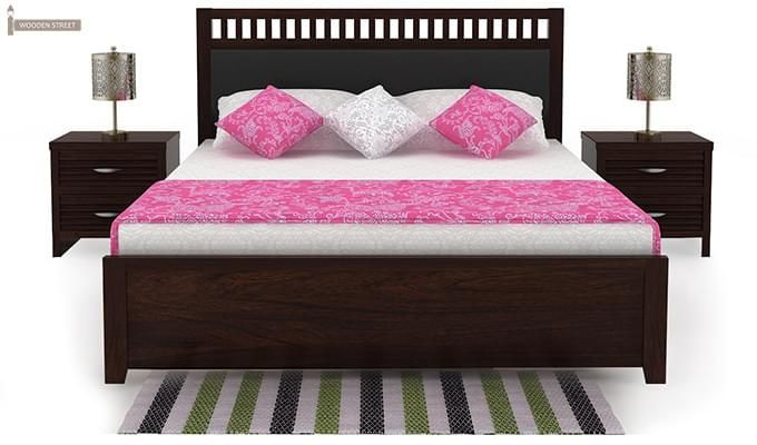 Javert Bed With Storage (Queen Size, Walnut Finish)-3