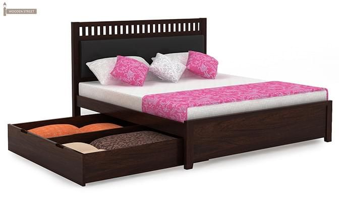 Javert Bed With Storage (Queen Size, Walnut Finish)-6
