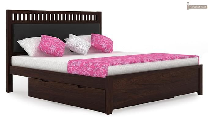 Javert Bed With Storage (King Size, Walnut Finish)-7