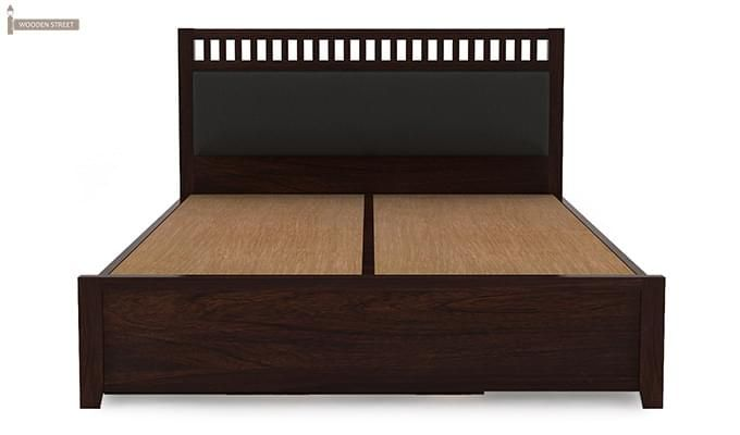 Javert Bed With Storage (Queen Size, Walnut Finish)-9