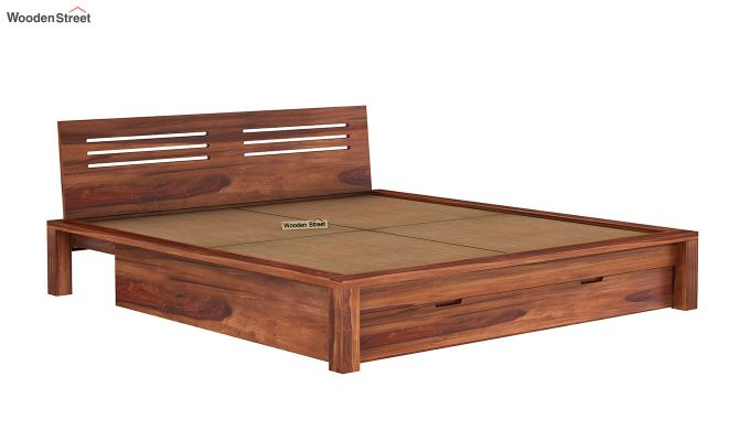 Lynet Bed With Storage (Queen Size, Honey Finish)-8