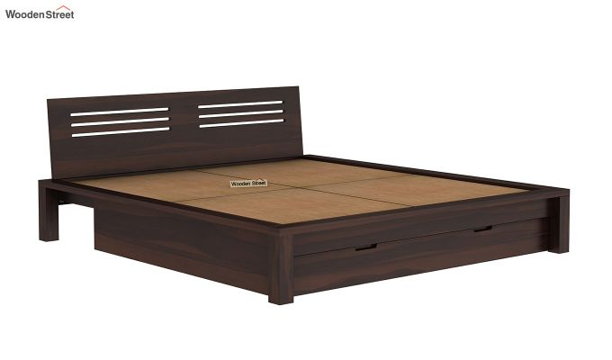 Lynet Bed With Storage (Queen Size, Walnut Finish)-8