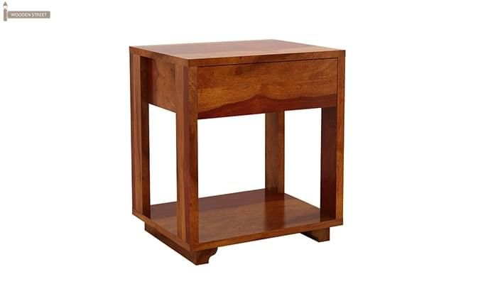 Lynet Bedside Table (Honey Finish)-3