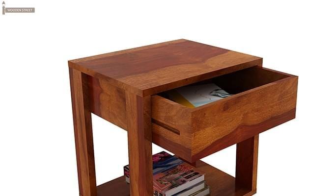 Lynet Bedside Table (Honey Finish)-4