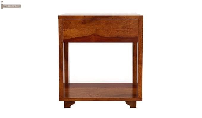 Lynet Bedside Table (Honey Finish)-5