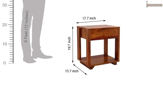 Lynet Bedside Table (Honey Finish)-6