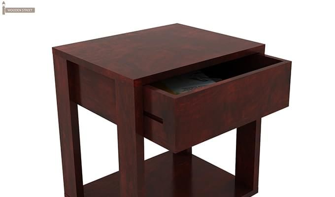 Lynet Bedside Table (Mahogany Finish)-5
