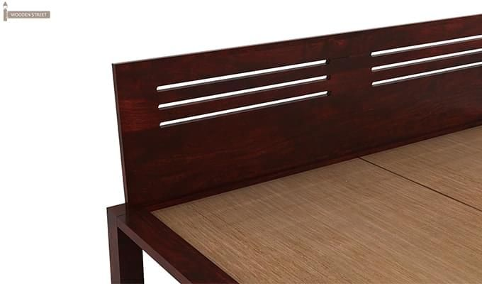 Lynet Bed With Storage (King Size, Mahogany Finish)-9