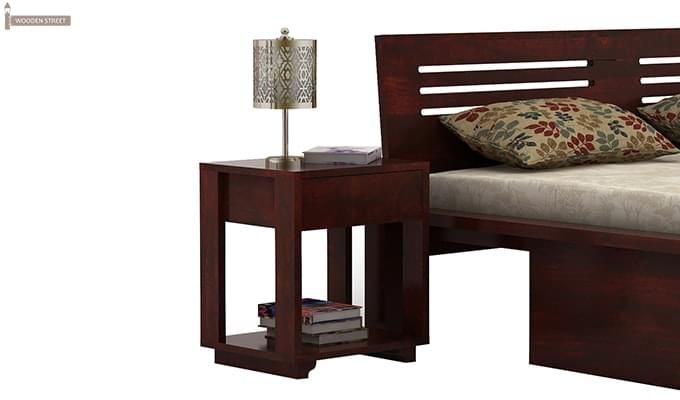 Lynet Bedside Table (Mahogany Finish)-2
