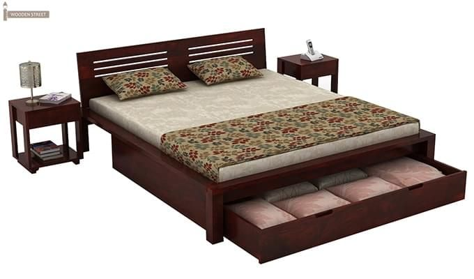 Lynet Bed With Storage (King Size, Mahogany Finish)-3