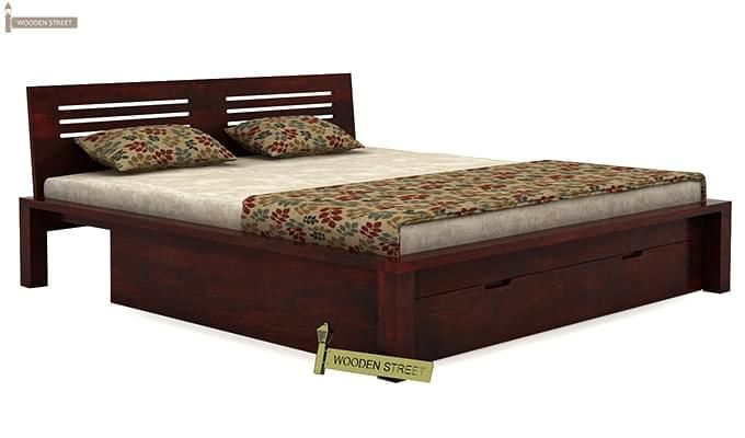 Lynet Bed With Storage (King Size, Mahogany Finish)-4
